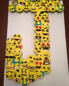 J Emoji Cupcake Cake