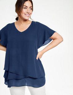 Die 8 besten Bilder von Chiffon Blusen   Chiffon blouses, Blouses ... 224632a3cf