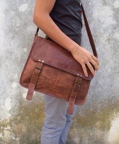 LEATHER BAG 2 styles leather satchel leather by ScandaloAlSole