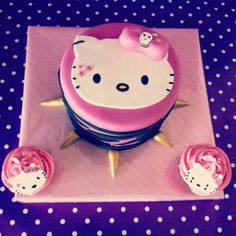 Kitty Punky Cake www.nuvoldesucre.com