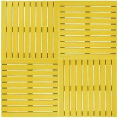 Deck Colorido Painel Modular 50x50 Isabela Revestimentos (Placa) Amarelo Estrada