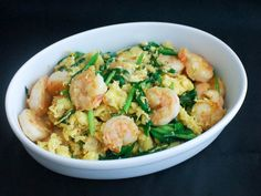 This quick-to-cook stir-fry of eggs with shrimp, Chinese chives, garlic, and ginger is popular among Cantonese home cooks for both its ease and wonderful flavor. It can be made with or without the shrimp, or with sliced roast pork in place of the shrimp.