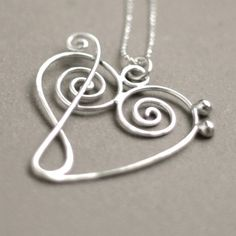 music+heart+NECKLACE+treble+clef+meets+bass+by+MeadowbelleMarket,+$49.00