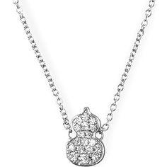 QEELIN Petite Wulu white gold diamond pendant necklace (£ 980)