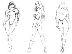 Vampirella Art | Concept Character Art, Character Model Sheets from Games, Movies ...