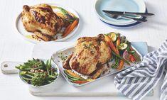 Creamy Chicken Pie, Butter Chicken, Roast Chicken With Vegetables Recipe, Chicken Recipes, Carbonara Sauce, Steamed Green Beans, Sunday Roast, Stuffed Whole Chicken, Roasted Chicken