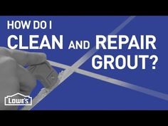 A video demonstrating how to repair damaged tile grout. Repairing tile grout is an easy, inexpensive do-it-yourself project that can give your kitchen or bathroom tile a fresh, new look. Grout Repair, Tile Refinishing, Clean Tile Grout, Bathroom Cleaning Hacks, Bathroom Repair, Cleaning Tips, House Ideas, Stress, Home Fix