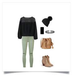 Chilled vibes by lucydanvers on Polyvore featuring Chicwish, Joe's Jeans, JustFab, Amanda Rose Collection and Black