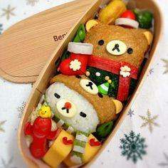 bento box with diffident bears