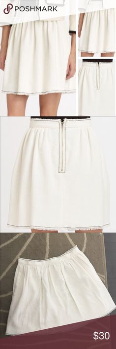 """NWOT Band of Outsiders Basket-weave """"Cindy"""" Skirt NWOT Girl. By Band of Outsiders """"Cindy"""" Basket-weave Skirt. Size: 5 (equivalent to a US standard size 12). Measured straight across, the waist is approx. 17.25 inches. Length is approx. 18.75 inches. Band Of Outsiders Skirts"""