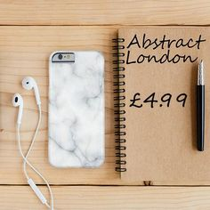 "Natural Marble Design✔ Apple and Samsung Galaxy Model ✔£4.99 ✔WorldWide Shipping use discount code ""pinterest123"" to get 10% off at checkout"