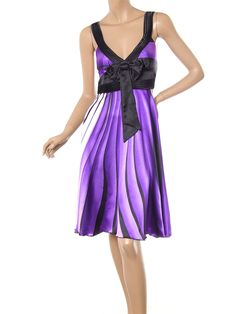 Purple Cocktail Party Dress