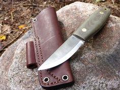 Lagom Bush Knife - Green Micarta Handle