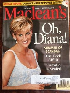 Maclean's - Canada - August News Magazine - Diana's scandal with Dodi. News Magazines, Vintage Magazines, Newspaper Cover, Howard Hughes, House Of Windsor, August 25, Princess Of Wales, Prince Charles, Covergirl