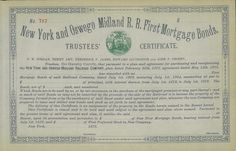 New York and Oswego Midland R. R. First Mortgage Bonds ​- #scripomarket #scriposigns #scripofilia #scripophily #finanza #finance #collezionismo #collectibles #arte #art #scripoart #scripoarte #borsa #stock #azioni #bonds #obbligazioni