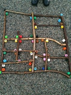 Outdoor Maths activities: investigating right angles with sticks (Creative STAR Learning | I'm a teacher, get me OUTSIDE here!)