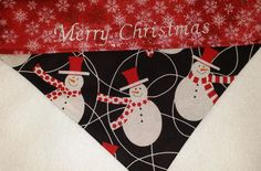 Snowmen Christmas Dog Bandanas!! by DogGoneGoodBandanas on Etsy