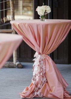 Blush Pink Wedding Cocktail Hour Decor