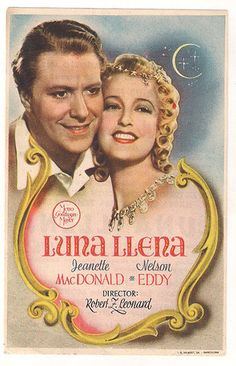 """""""New Moon"""" Spanish poster, starring Jeanette MacDonald and Nelson Eddy"""