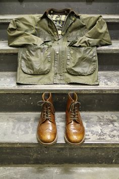 ...these.    (Grenson x Barbour)