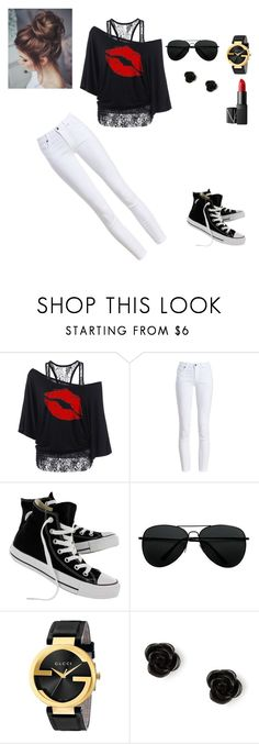 """""""Vivianna's cloths"""" by eleonora83 on Polyvore featuring Barbour, Converse, Gucci, claire's and NARS Cosmetics"""