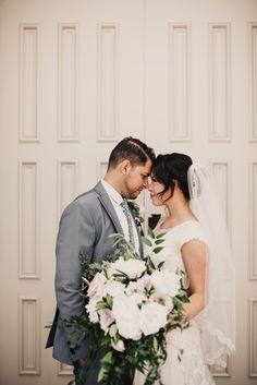 Utah wedding photographer, Greenery flower crowns, Provo City Center Temple…