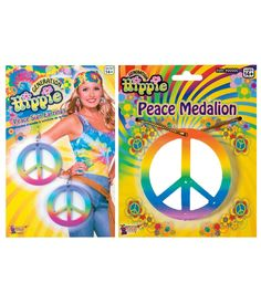 Peaceful Hippie Womens Costume Accessory Kit
