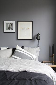 finally … grey or black bedroom. finally … grey or black bedroom. Bedroom Inspo, Home Bedroom, Bedroom Decor, Grey Wall Bedroom, Bedroom Black, Bedroom Ideas, White Bedrooms, Wall Decor, Grey Bedroom Design