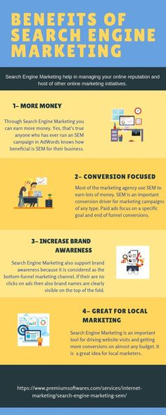 Search Engine Marketing is one of the best ways to get qualified leads through Ads. It helps in increasing the visibility of the website in search engine results pages through paid advertising. Check out some top benefits of Search Engine Marketing.  #sem #searchenginemarketing #paidads #increasevisibility #serp