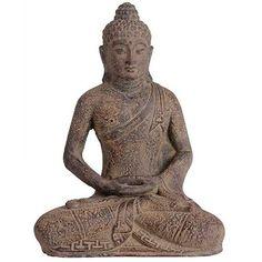 Escultura Buda em Pedra 30cm - Bali - http://www.artesintonia.com.br/escultura-buda-em-pedra-30cm-bali