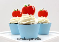Apple cupcake toppers.