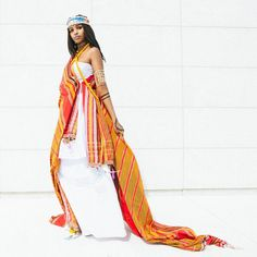 Somali woman in traditional outfit