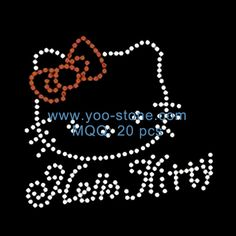 The Most Popular Products Kitty Rhinestone Motif Designs For Decorate Garment Accessory