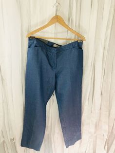 62ab786cf30e2 Womens Gap Chambray Slim Crop Pant Size 12 Trouser Blue Cropped New Linen  Blend  fashion  clothing  shoes  accessories  womensclothing  pants (ebay  link)