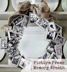 Frames from the Dollar Tree transformed into a great wreath!! |Pinned from PinTo for iPad|