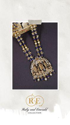 India Jewelry, Temple Jewellery, Gold Jewelry, Beaded Jewelry, Emerald Necklace, Gold Necklace, Gold Haram Designs, Latest Jewellery, Necklace Online