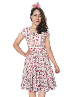 Lady Mayra Anna White Sweet Cupcake Dress by LadyMayraClothing