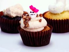 Sweet Potato Cupcakes, Brown Sugar Cream Cheese Frosting, Candied Pecans from FoodNetwork.com