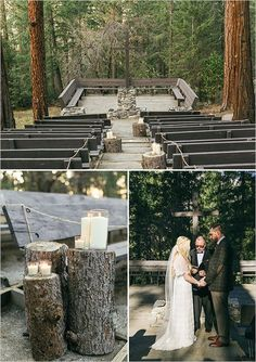 Wedding ceremony inspiration - rustic woodland ceremony