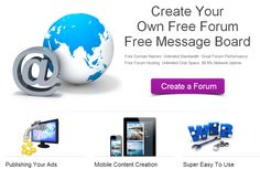 Creating a new free forum takes less than 30 seconds .MoreForum — is a free, professional grade software package that allows you to create up your own online forum within minutes.Join Morefoum.com on the Internet's largest, most enjoyed free forum hosting service. Create a free forum : http://www.moreforum.com/