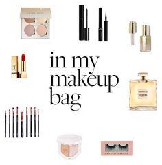 """My makeup bag"" by sina5439 on Polyvore featuring Schönheit, Chanel, Yves Saint Laurent, M.O.T.D Cosmetics, Puma, Giorgio Armani und Stila"