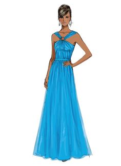 eebd3cac79035 B5987 | Misses' Gathered Floor-Length Dresses Sewing Pattern | Butterick  Patterns