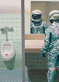 Men's Room als Leinwandbild von Scott Listfield   JUNIQE