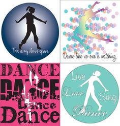 Dance Quote Stickers