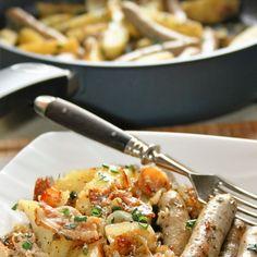 Jednogarnkowe: potrawka z mięsem, cebulą i ziemniakami
