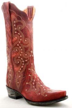 Womens Old Gringo Celeste Boots Red #L171-27 $449.99