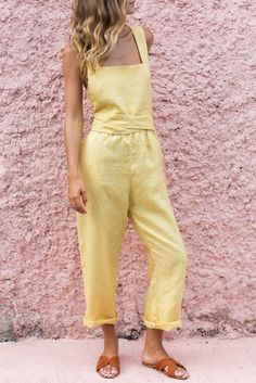 ISOBEL JUMPSUIT - LEMON – posse-store