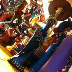 Arte popular en México. La tradicional Catrina en su mayor explendor!!