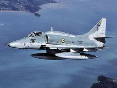 """british-eevee: """"Brazilian Navy A-4 Skyhawk in flight """""""