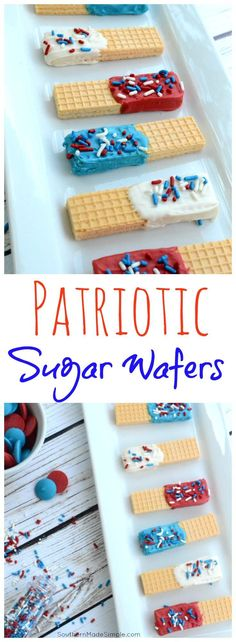 Patriotic Sugar Wafe